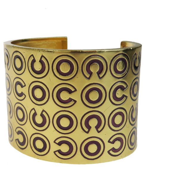 CHANEL COCO Bangle Bracelet Gold-tone 01A France A